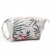 Белая женская сумка David Jones 5923 маленькая через плечо с длинным ремешком, фото 1