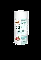 Сухой корм для стерилизованных кошек и кастрированных котов Индейка и овёс 650 г OPTIMEAL ОПТИМИЛ