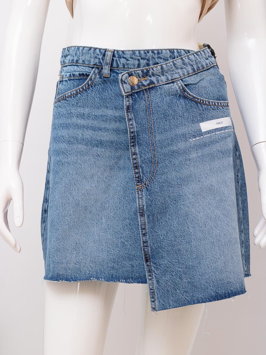 Юбка джинсовая женская CRACPOT 5029 SKIRT BLUE