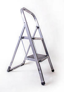 Стремянка 2-х ступенчатая стальная с прорезиненными ступенями (аналог  Eurogold, 2122)
