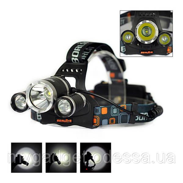 Налобный фонарь High Power Headlamp 3xT6