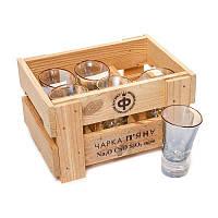 Набор 6 рюмок пьяных необычных высоких BST 520003 20х15х11 см. Неординарность