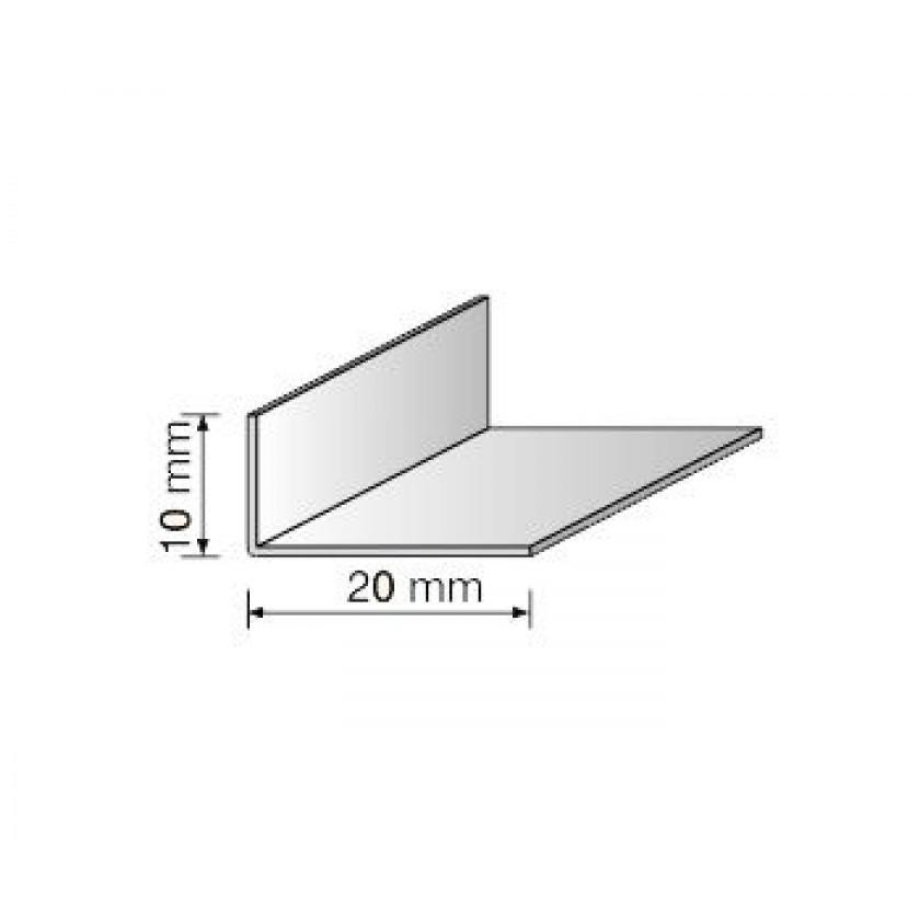 Угол ПВХ 10*20(арочный) белый