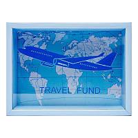 Копилка для бумажных денег Travel Fund BST 710027 20х15 см. голубой