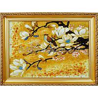 "Картина из янтаря ""Сакура и колибри"""