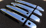 """Хром накладки на дверные ручки под чип """"умный ключ"""" (пластик хром) Mazda cx-5 (мазда сх-5) 2012+, фото 2"""