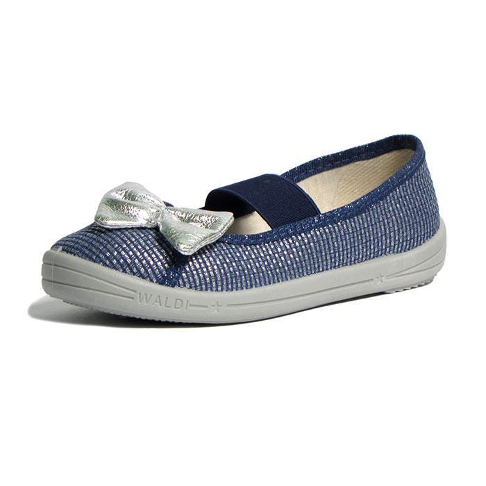Тапочки WALDI Вероника Бант синий. Размеры 27-34.