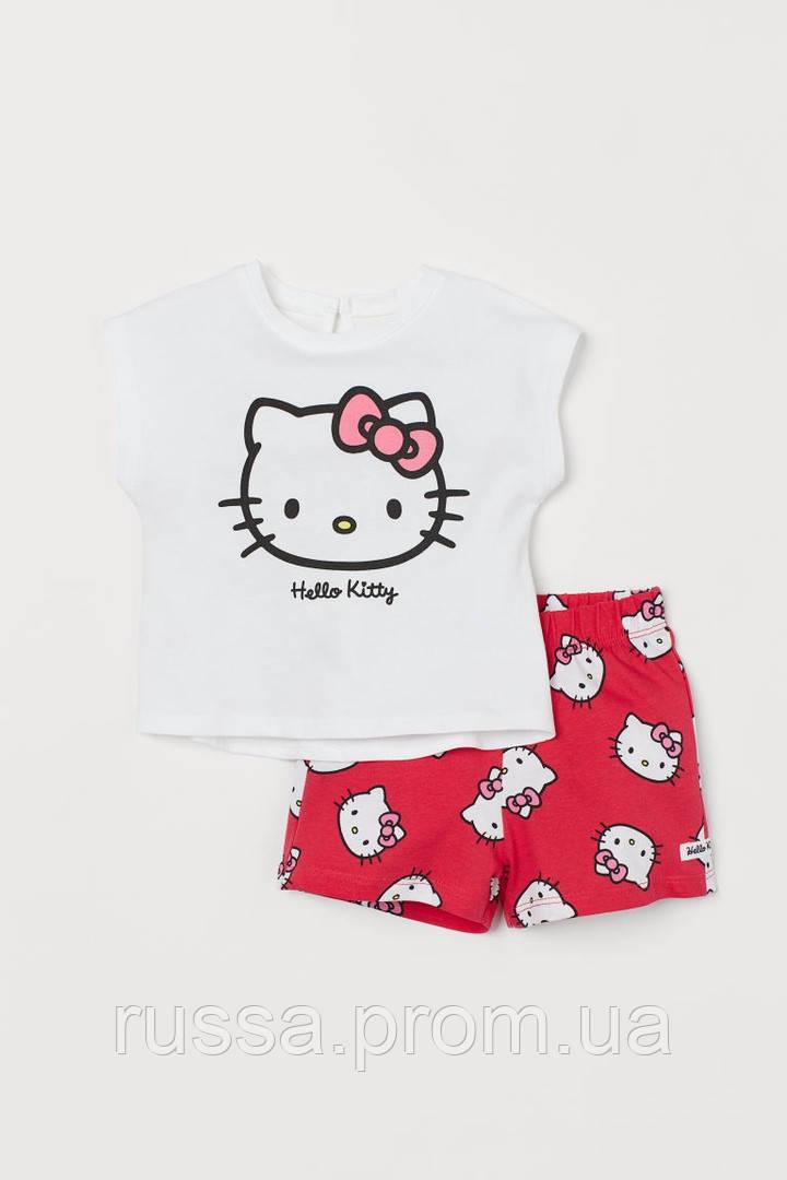 """Очаровательный комплект из двух вещей """"Hello Kitty"""" для девочки"""