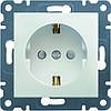 Розетка с з/к и защитой контактов Hager Lumina 2 Белая (WL1060)