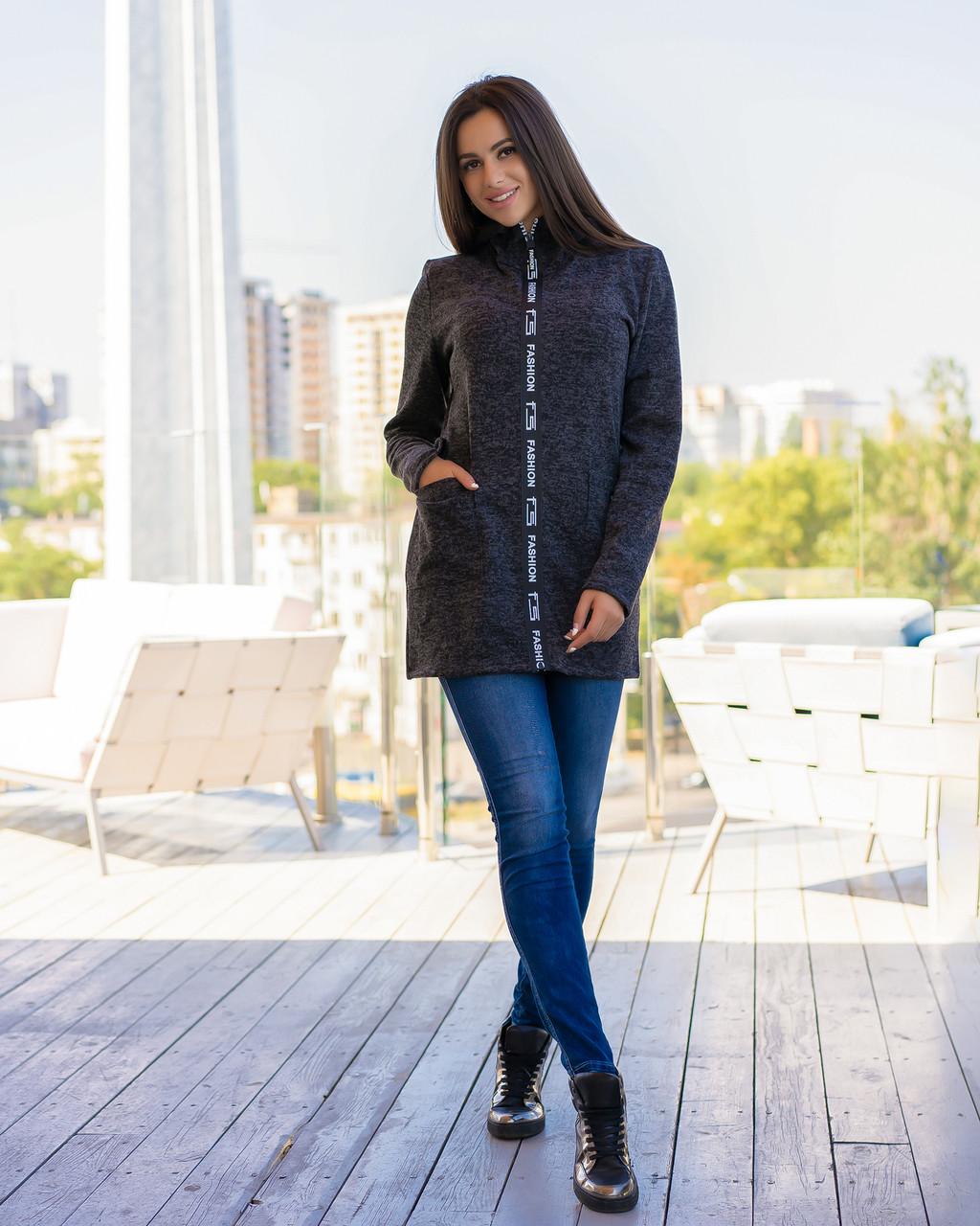 Кардиган жіночий теплий чорного кольору від YuLiYa Сһимасһепко