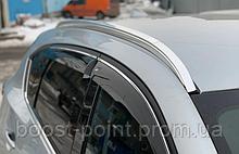 Дефлекторы окон (ветровики) с хром полосой (кантом-молдингом) Mazda cx-5 (мазда сх-5 2017г+)