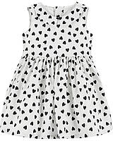 Детское нарядное платье с сердечками Картерс для девочки