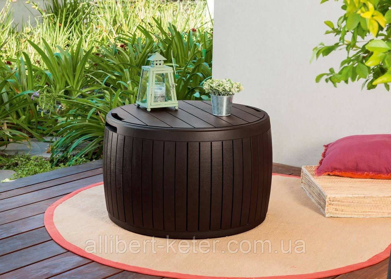 Стіл - скриня Keter Circa Wood Storage Box 140 L Brown ( коричневий )