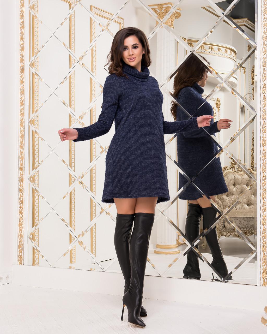 Плаття-туніка синього кольору