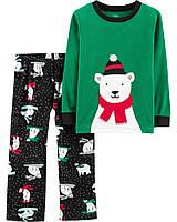 Детская теплая флисовая пижама Мишка для мальчика Carters Картерс
