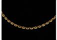 Золотая цепочка Якорная круглая 65 см УЦЕНКА, фото 2