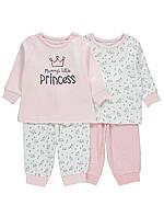 Комплект детских пижам из 4-х вещей Короны Джордж для девочки