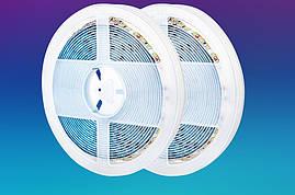 Светодиодная лента smd 2835 120led/м 12v ip65 влагозащита белый премиум на синем термоскотче