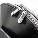 Чорний жіночий рюкзак молодіжна сумка трансформер через плече Diana&Co, фото 4