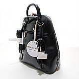 Чорний жіночий рюкзак молодіжна сумка трансформер через плече Diana&Co, фото 5