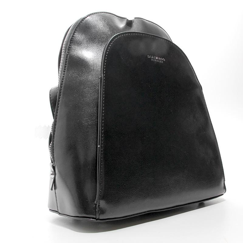 Чорний жіночий рюкзак молодіжна сумка трансформер через плече Diana&Co