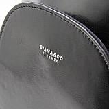 Чорний жіночий рюкзак молодіжна сумка трансформер через плече Diana&Co, фото 7