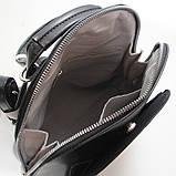 Чорний жіночий рюкзак молодіжна сумка трансформер через плече Diana&Co, фото 8