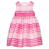 Детское нарядное розовое платье с бантом Gymboree для девочки