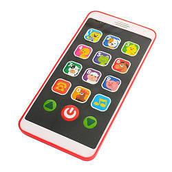 Интерактивный детский Телефон со голосовым сопровождением Limo Toy, красный