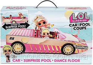 Игровой набор-сюрприз с куклой ЛОЛ Автомобиль купе L.O.L. Surprise! серия Lights Кабриолет (565222)