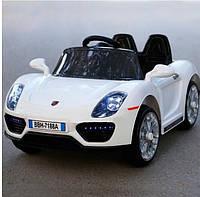 Детский легковой электромобиль Porsche (белый цвет) с пультом дистанционного управления