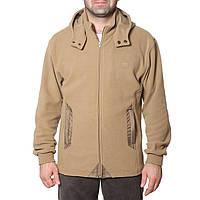 Флисовая куртка с капюшоном (размеры S-3XL в расцветках) бежевый, XL