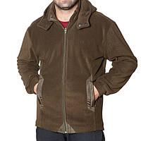 Флисовая куртка с капюшоном (размеры S-3XL в расцветках) оливковый, M