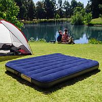 Большой классический двуспальный надувной матрас Intex