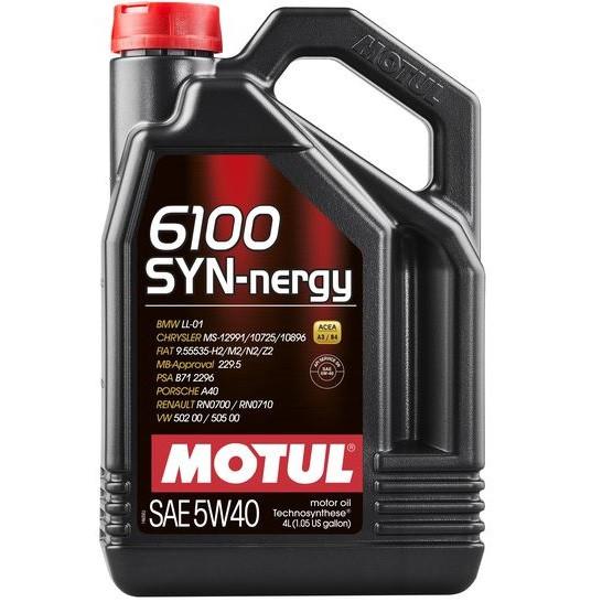 Масло моторне Technosynthese д/авто MOTUL 6100 Syn-nergy SAE 5W40 4л. 107978/368350