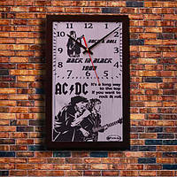 """Настенные часы """"AC DC"""", индивидуальная работа."""