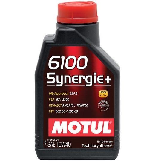 Масло моторне Technosynthese д/авто MOTUL 6100 Synergie+ SAE 10W40 1л. 108646/839411