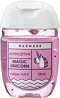 Санитайзер антисептик для рук Mermade Magic Unicorn Hand Gel 29 мл 70% спирта