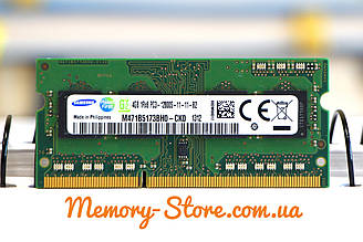 Оперативна пам'ять для ноутбука SAMSUNG DDR3 4GB 1Rx8 PC3-12800S 1.5 V SODIMM (б/у)