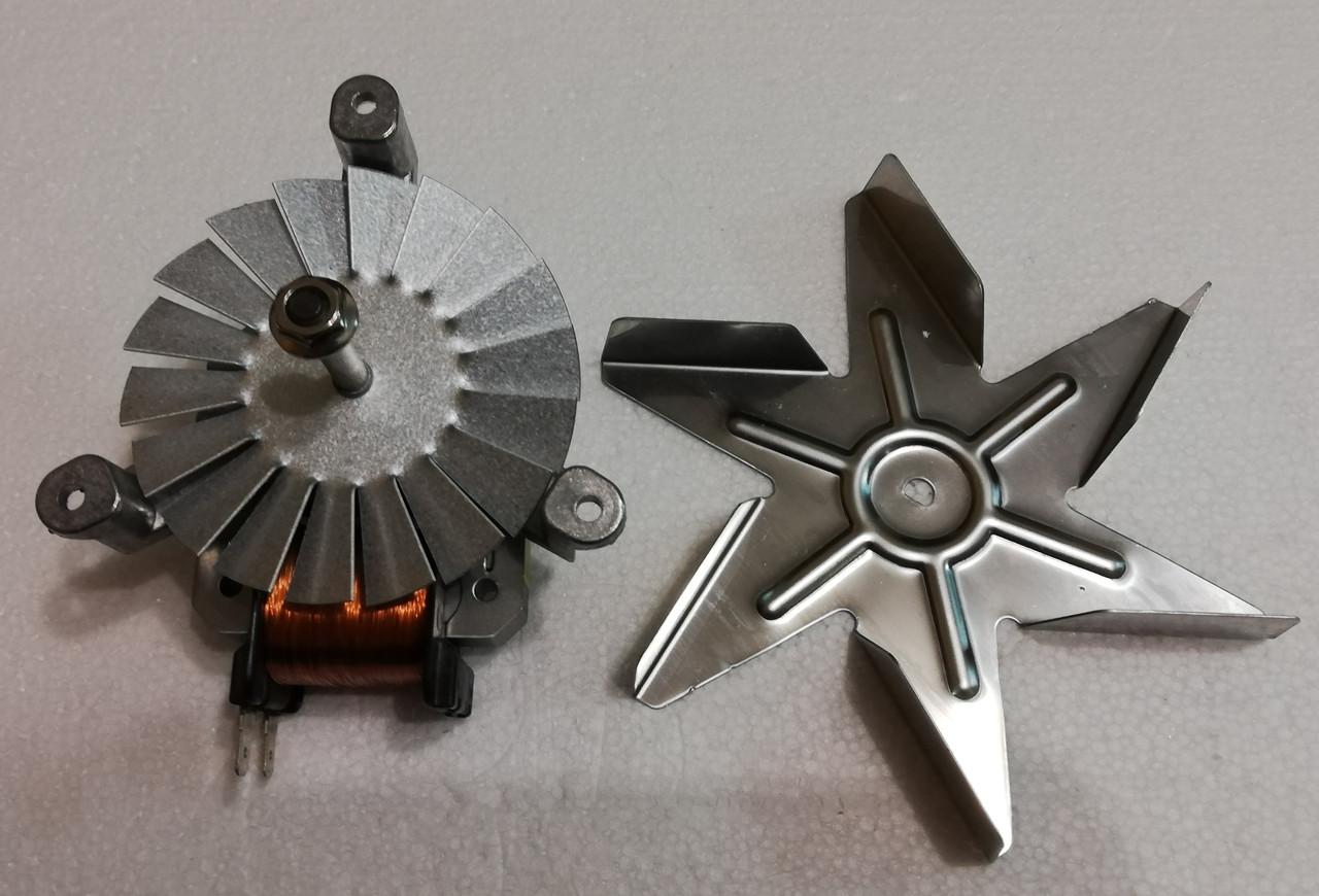 Мотор вентилятора конвекции + крыльчатка для духовки Indesit C00140299