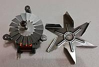 Мотор вентилятора конвекции + крыльчатка для духовки Indesit C00140299, фото 1