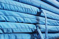 Матрац для шезлонга 186*55*4 см, однотонний блакитний, фото 1