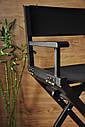 Стул для визажиста, складной, деревянный, режиссерский, черный, фото 6