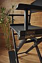 Стул для визажиста, складной, деревянный, режиссерский, черный, фото 3