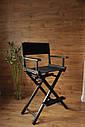 Стул для визажиста, складной, деревянный, режиссерский, черный, фото 7