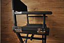 Стул для визажиста, складной, деревянный, режиссерский, черный, фото 4