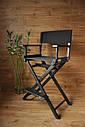 Стул для визажиста, складной, деревянный, режиссерский, черный, фото 8