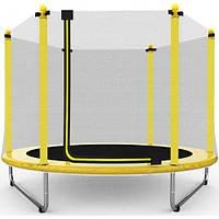 Батут Атлето 152см з сіткою жовтий (5ft) для дітей, детский батут 152см