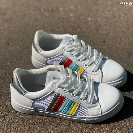 Белые кроссовки в сеточку, фото 2