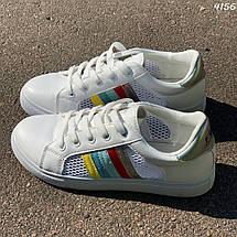 Белые кроссовки в сеточку, фото 3